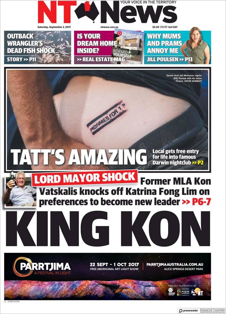 Portada de Northern Territory News (Australia)