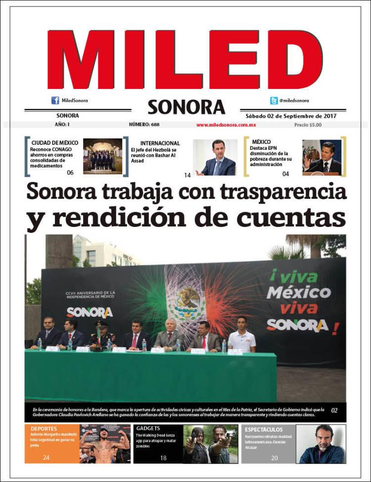 Portada de Miled - Sonora (México)