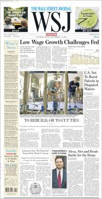 Portada de Wall Street Journal (USA)