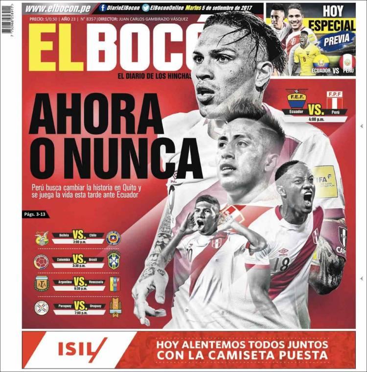 Periódico El Bocón Perú Periódicos De Perú Edición De Martes 5
