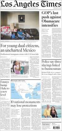 Portada de Los Angeles Times (États-Unis)
