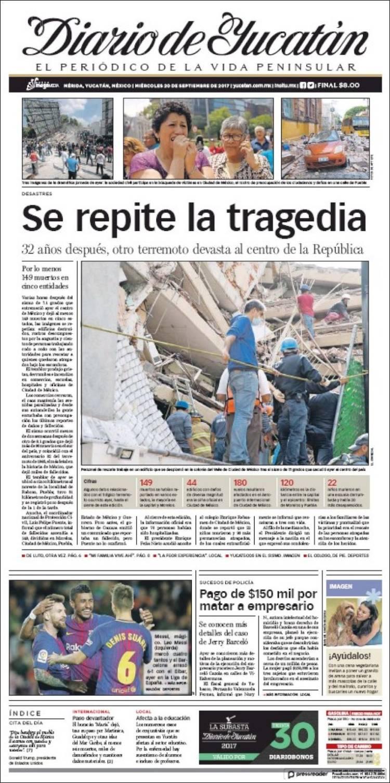 Portada de Diario de Yucatán (Mexico)