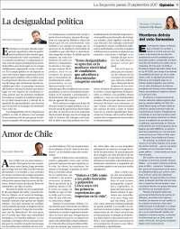 Portada de La Segunda (Chile)