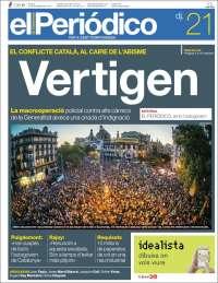 Portada de El Periódico de Catalunya (Espagne)