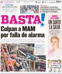 Portada de Diario Basta (Mexico)