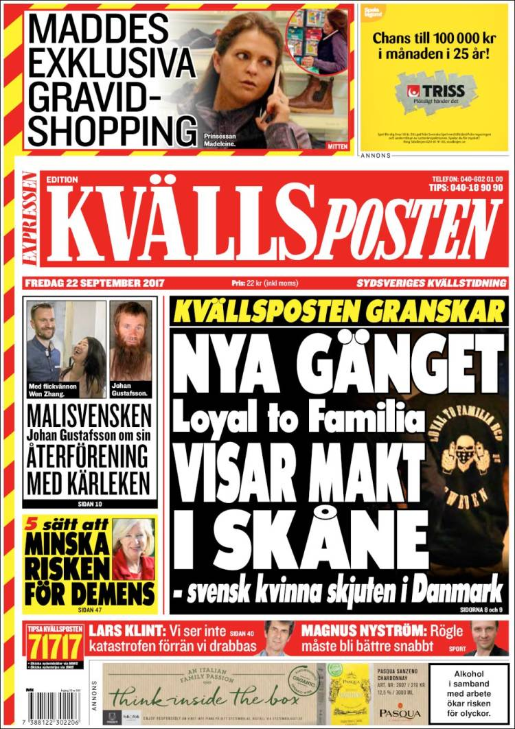 Portada de Kvällsposten (Sweden)