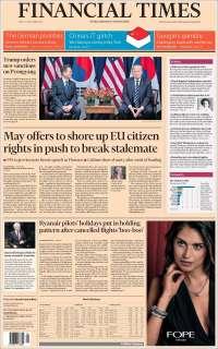 Portada de Financial Times (Reino Unido)