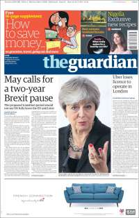 Portada de The Guardian (Royaume-Uni)