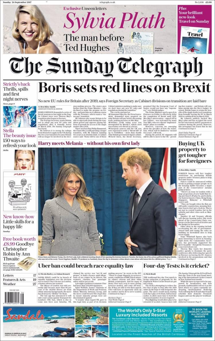 Portada de Daily Telegraph (Royaume-Uni)