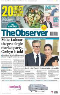 Portada de The Observer (Royaume-Uni)