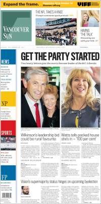 Portada de The Vancouver Sun (Canadá)