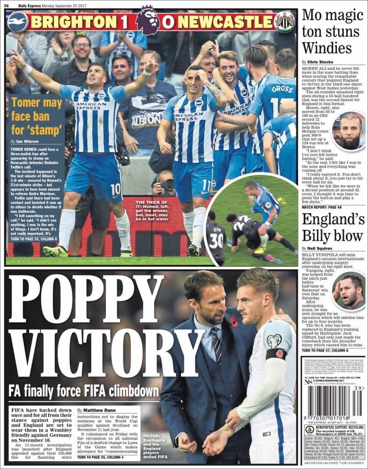 Portada de Express Sport (Royaume-Uni)