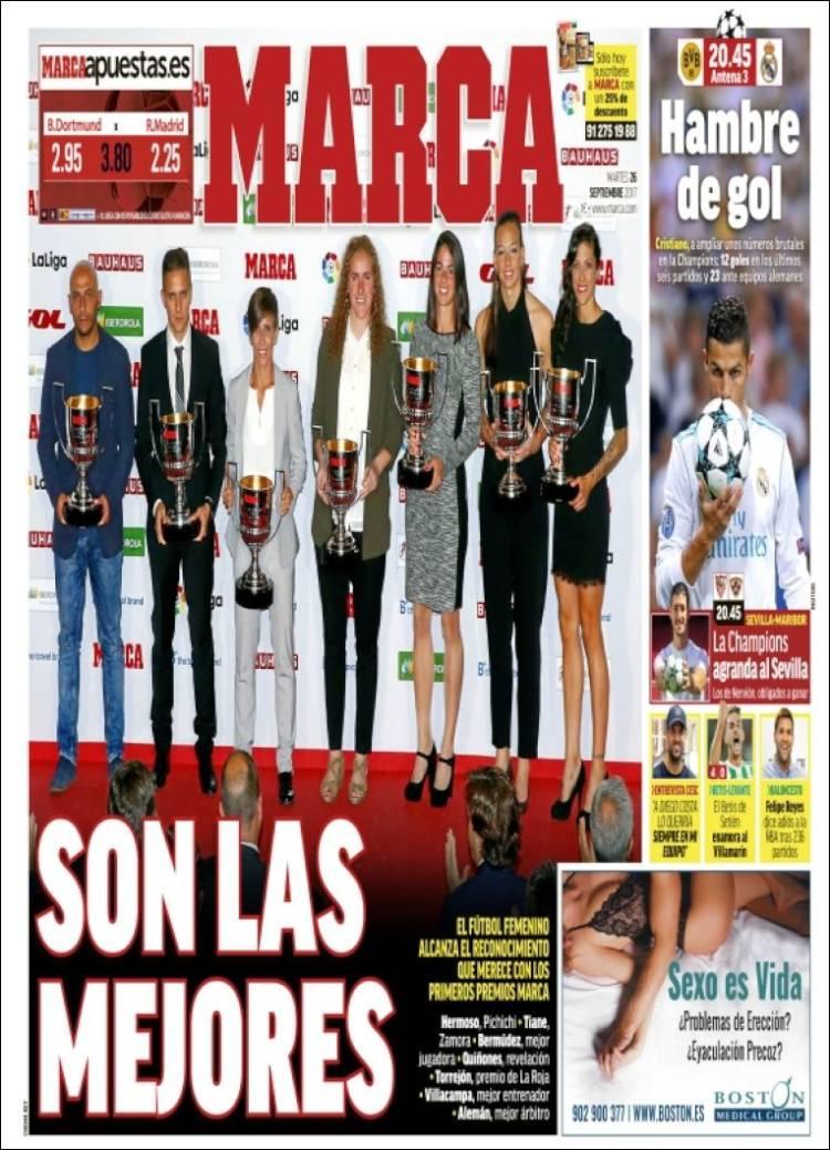 Newspaper Marca (Spain)  Newspapers in Spain  Tuesday's