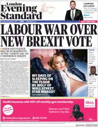Portada de Evening Standard (Royaume-Uni)