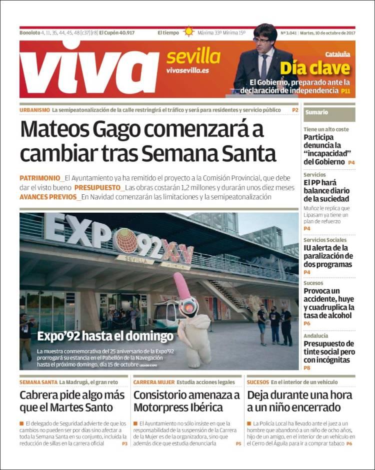 Periódico Viva Sevilla España Periódicos De España Edición De