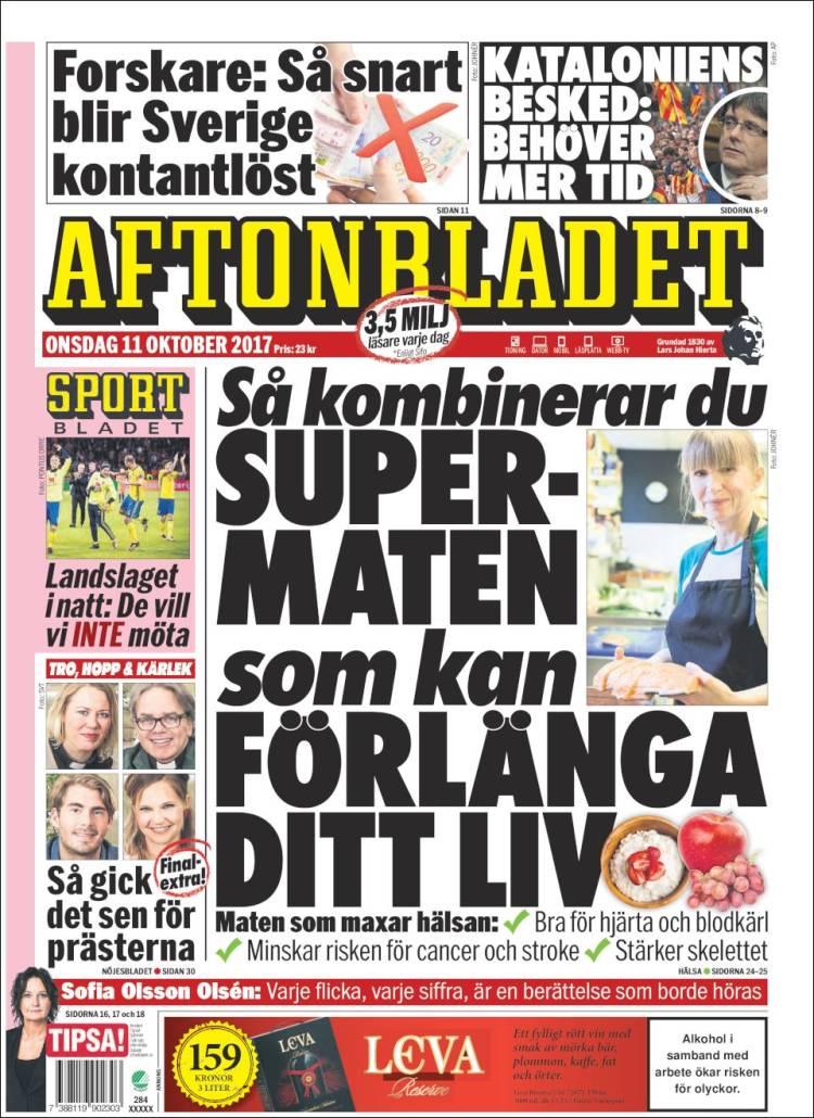 Aftonbladet daily 11 oktober