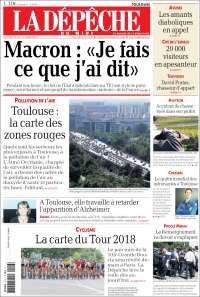Portada de La Dépêche du Midi (France)