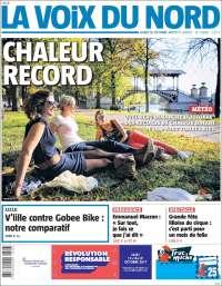 Portada de La Voix du Nord (France)