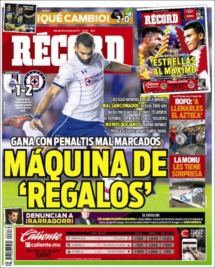 Portada de Record (Mexico)