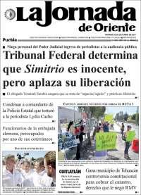 La Jornada de Oriente - Puebla