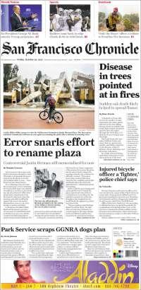 Portada de San Francisco Chronicle (USA)