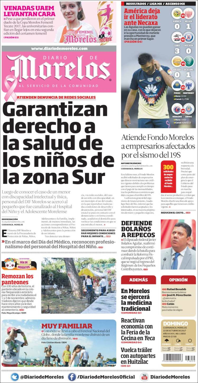 Portada de Diario de Morelos (México)