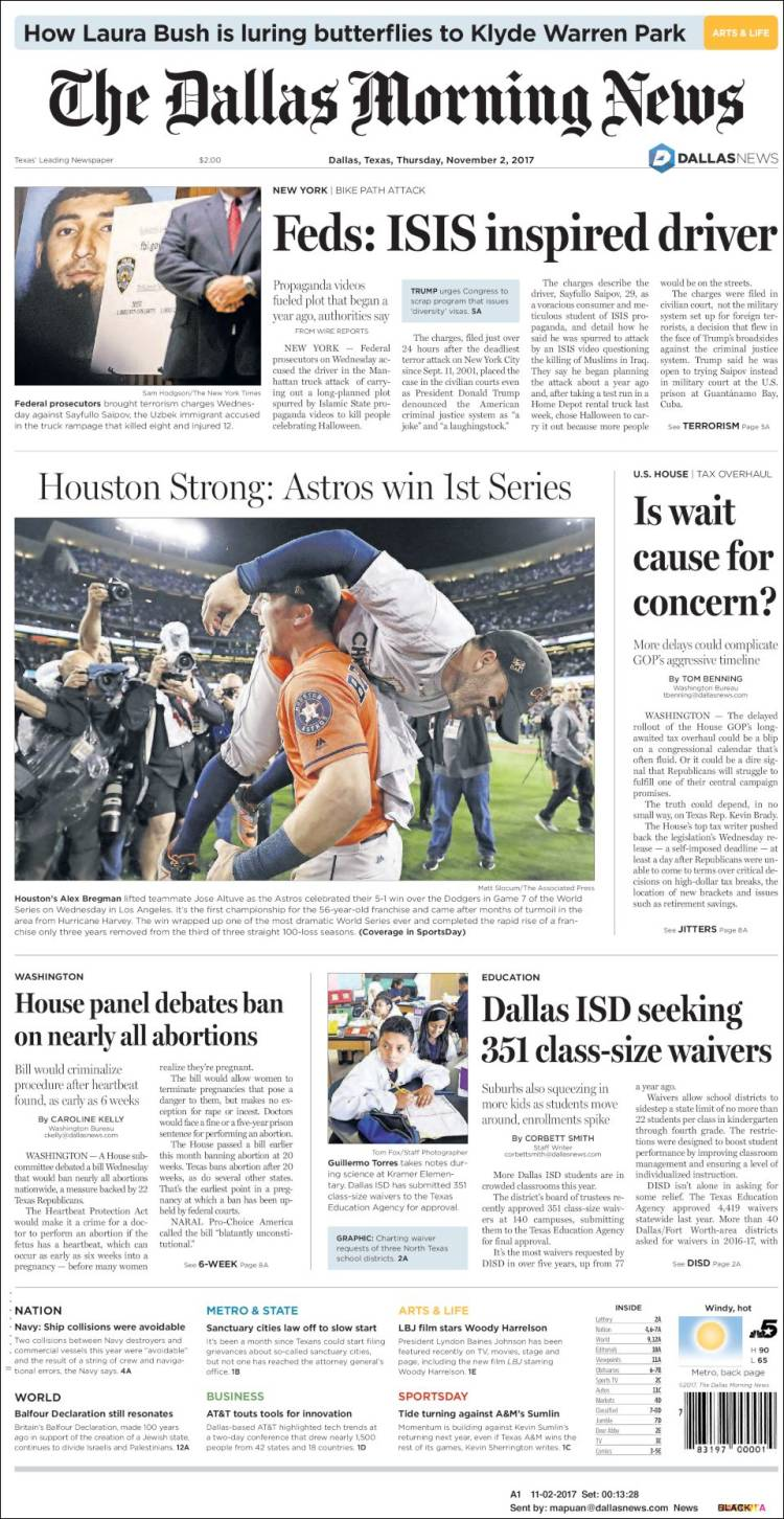 newspaper dallas morning news usa newspapers in usa thursday s