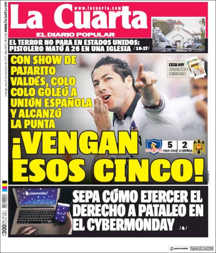 La Cuarta De Chile | Newspaper La Cuarta Chile Newspapers In Chile Monday S Edition
