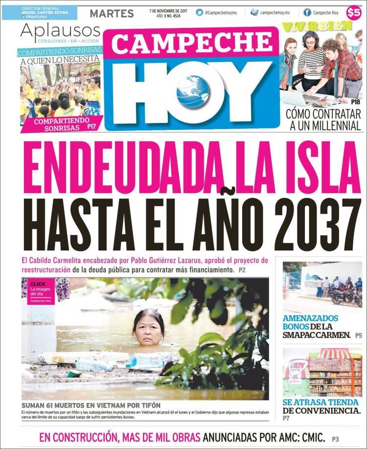 73ee6f84 Periódico Campeche Hoy (México). Periódicos de México. Edición de ...