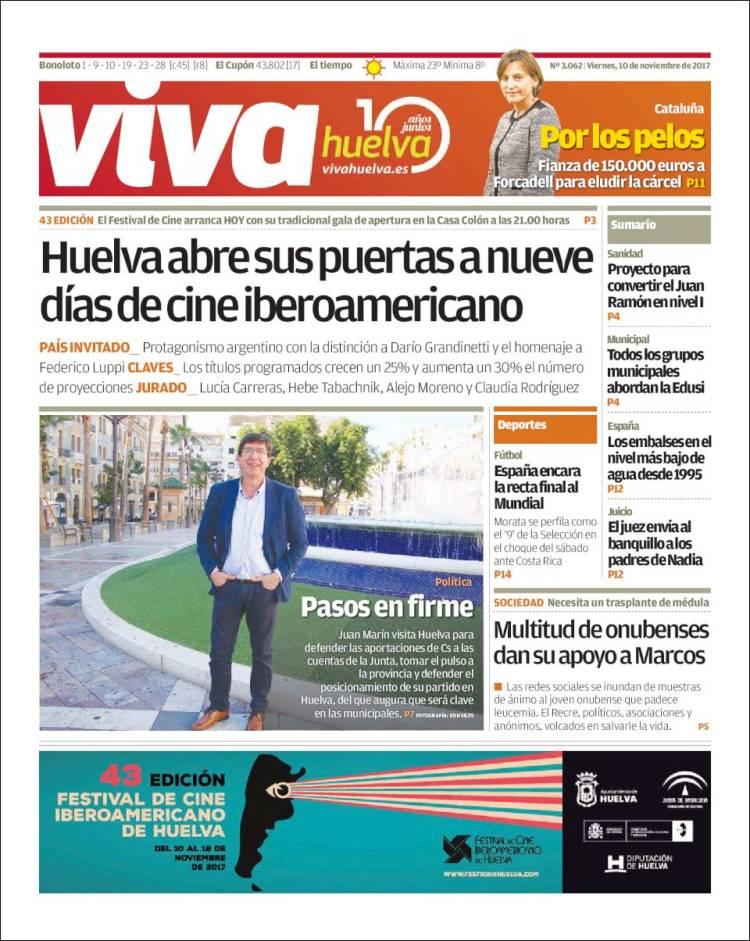 Portada de Viva Huelva (España)