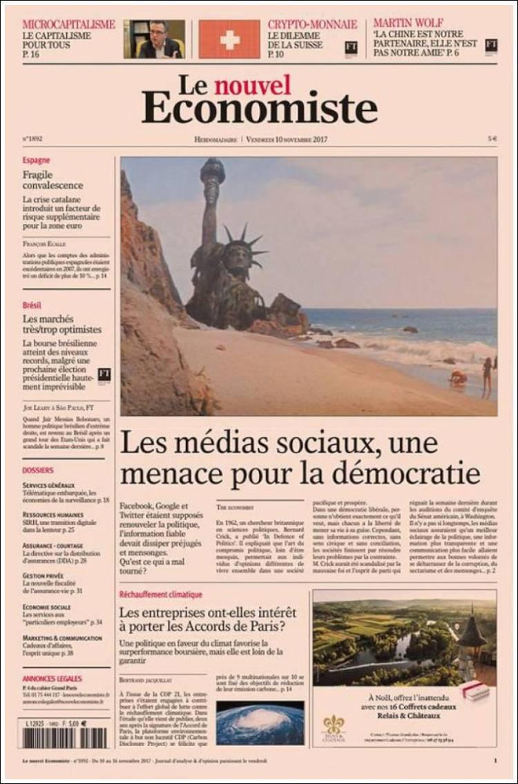 Portada de Le nouvel Economiste (Francia)
