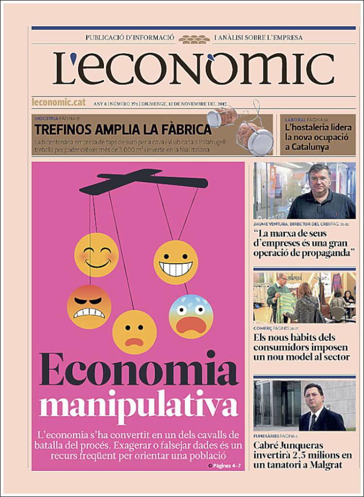 Portada de L'Econòmic (Espagne)