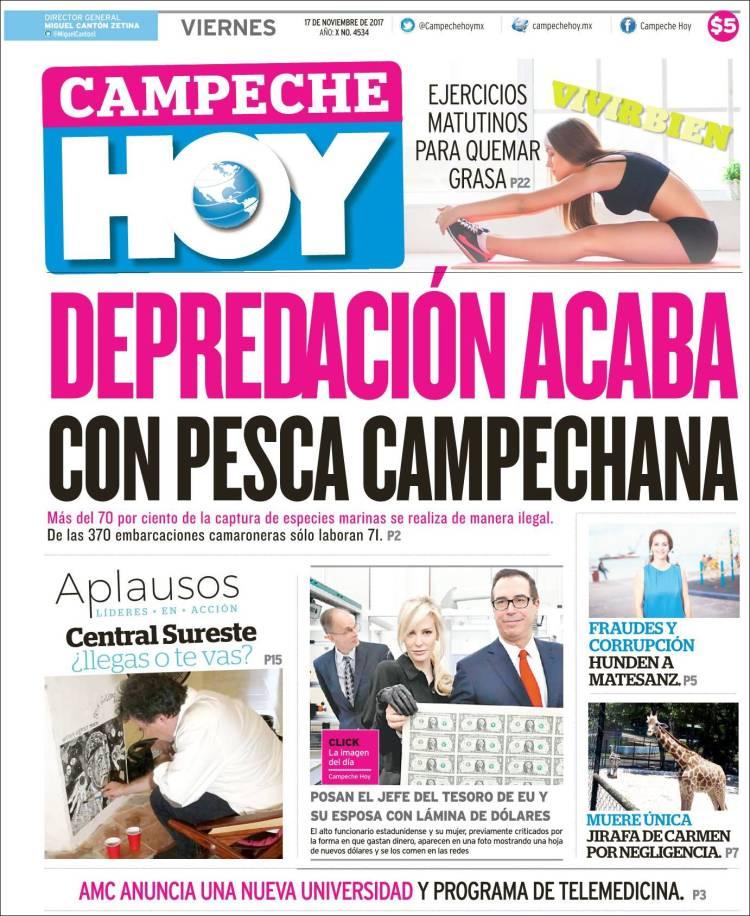 Portada de Campeche Hoy (México)