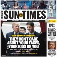 Portada de Chicago Sun-Times (États-Unis)