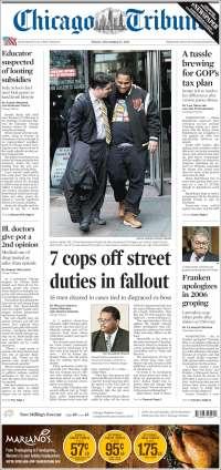 Portada de Chicago Tribune (États-Unis)