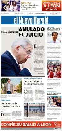 Portada de El Nuevo Herald (États-Unis)