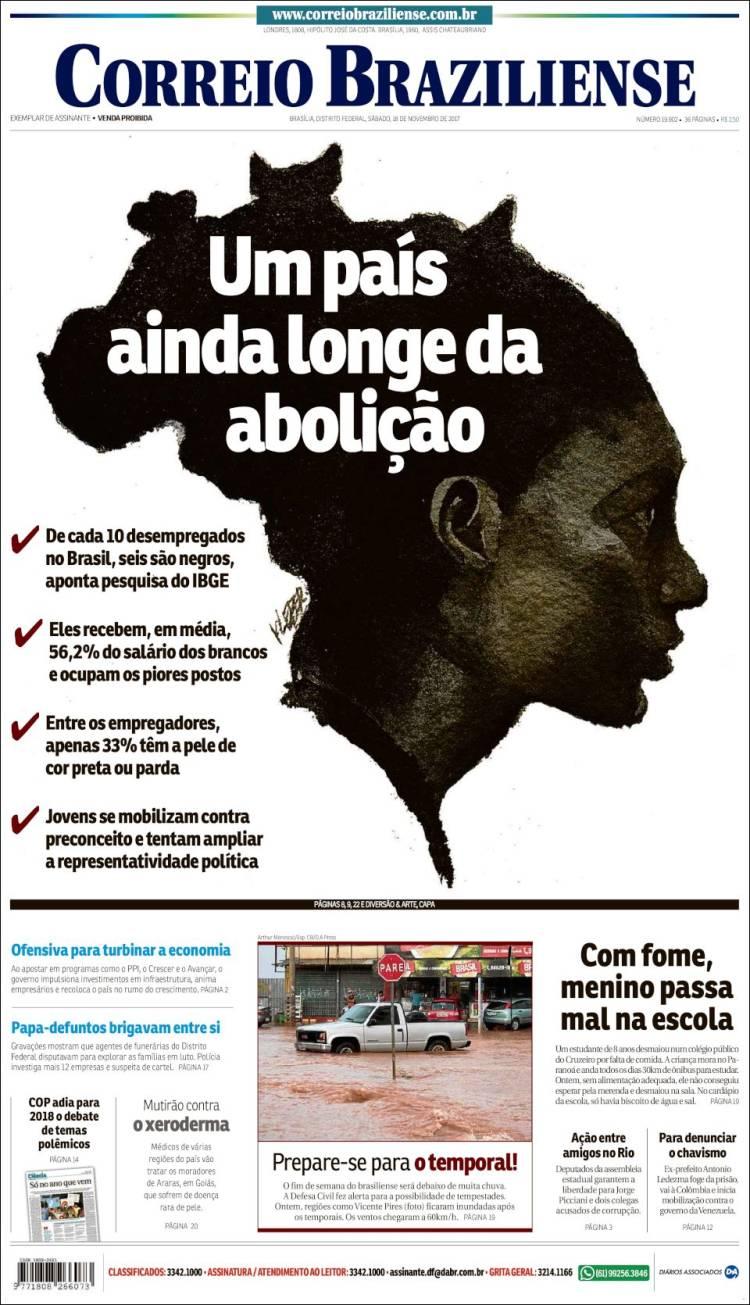 Portada de O Correio Brazilense (Brésil)