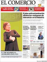 Portada de El Comercio - Gijón (Espagne)