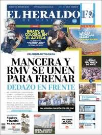 Portada de El Heraldo de México (Mexique)
