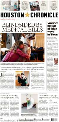 Portada de Houston Chronicle (États-Unis)