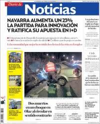Portada de Noticias de Navarra (España)