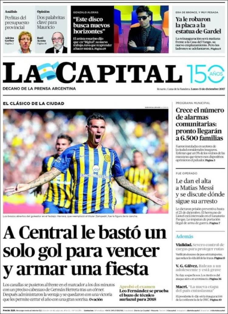 Portada de La Capital - Rosario (Argentina)
