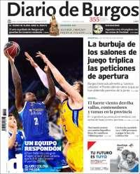 Portada de Diario de Burgos (España)