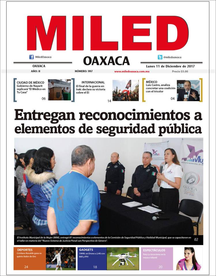 Portada de Miled - Oaxaca (México)