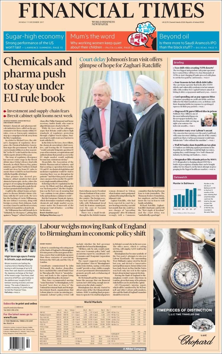 Portada de Financial Times (United Kingdom)