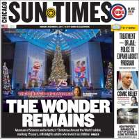 Portada de Chicago Sun-Times (USA)