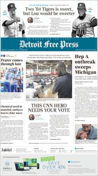 Portada de Detroit Free Press (USA)