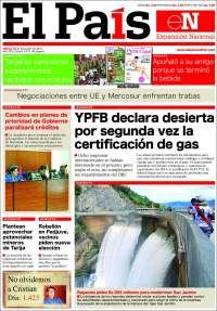 Portada de El País (Bolivia)