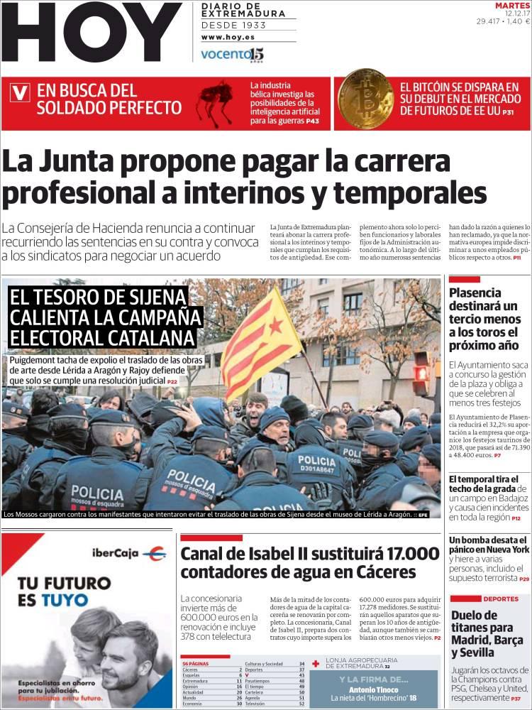 Portada de Hoy - Caceres (España)