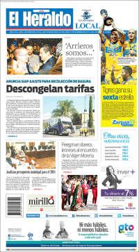 Portada de El Heraldo de León (México)
